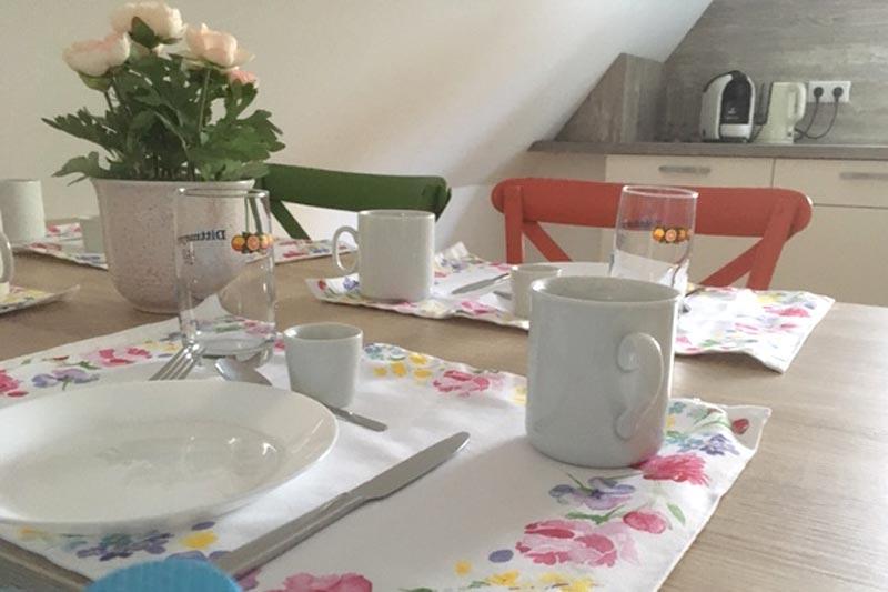 Küche mit Essbereich für 4 Personen